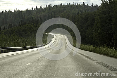 Road from Fairbanks to Anchorage