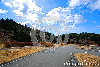 The road on Fuji san in Shizuoka