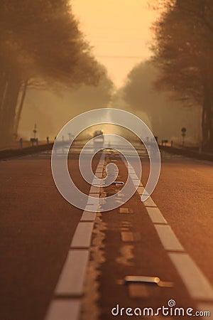 On the road getaway