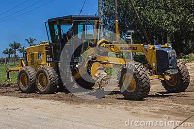 Road Grader Earthworks Civil Editorial Stock Image