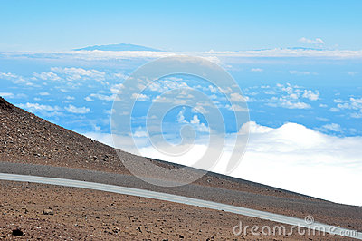 Road at Haleakala National Park, Hawaii
