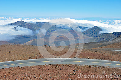 Road at Haleakala National Park, Maui (Hawaii)