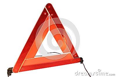 Road hazard warning triangle