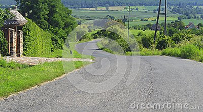 Road in a hill
