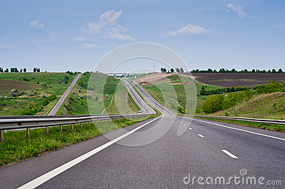 Road among hills