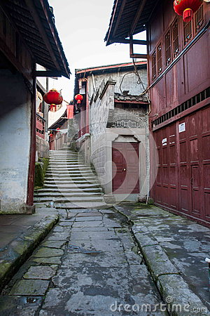 Free ---- Road Hole Town One Of The Top Ten Most Attractive Town Chongqing Stock Photos - 42432133