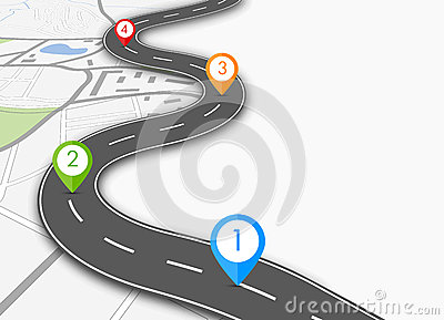 Road infographic Vector Illustration