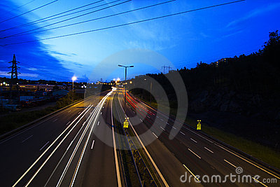 Road, lights and sky 4