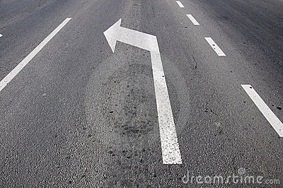 Road Line And Arrow Stock Photography - Image: 13238182