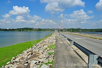 A road by Lower Seletar Reservoir