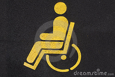 Disabled people car parking. Road sign