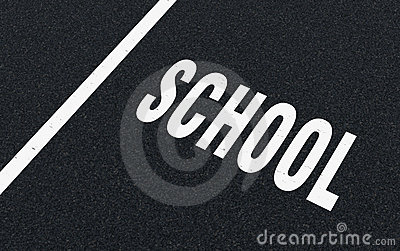 Road markings - school