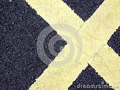 Road Markings in shape of X