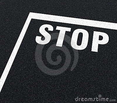 Road markings - stop