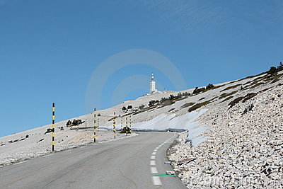 Road of Mont Ventoux in France