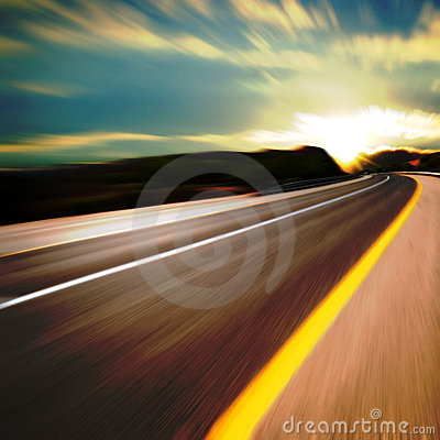 Road in motion