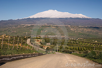 Road for mount Etna