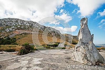Road in mountain at Mallorca Island