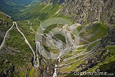 Road in Norway Trollstigen
