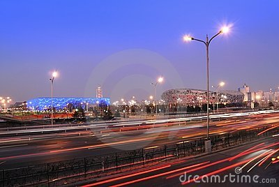 Road by the Olympic Stadium Editorial Photography