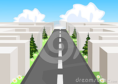 Road over maze