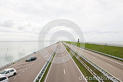 Road over the sea