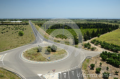 A road among the plantations in Catalonia