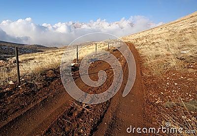Road at Qornet el- Sawda, Lebanon