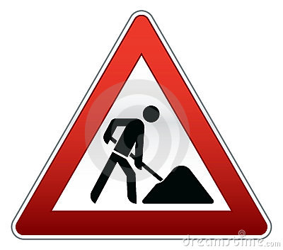 Road repair sign