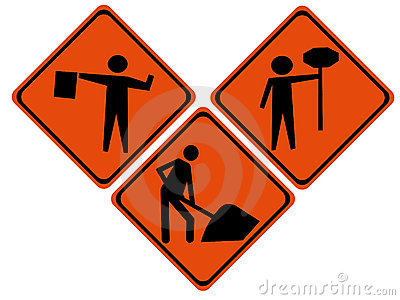 Road repair signs