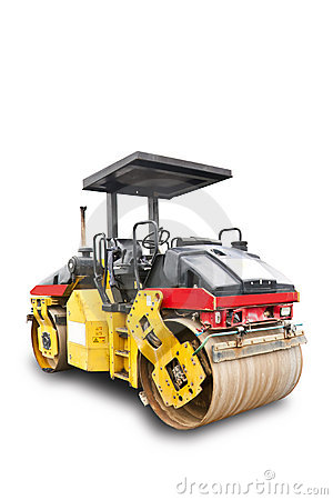 Road roller with clipping path