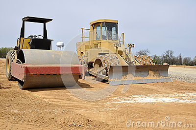 Road roller and compactor