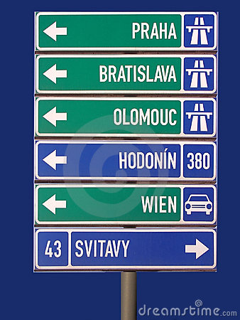 Road Sign Stock Image - Image: 3557871