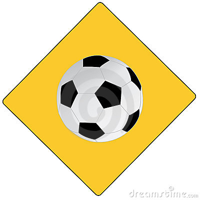 Road sign america soccer