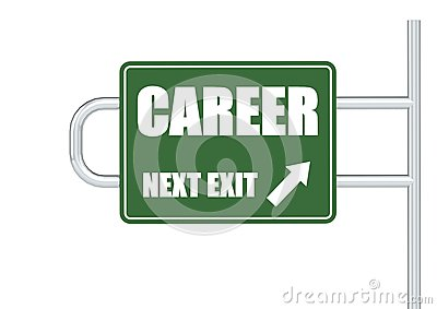 Road Sign with CAREER