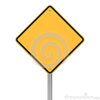 Road Sign In Diamond Shape. Royalty Free Stock Photography ...