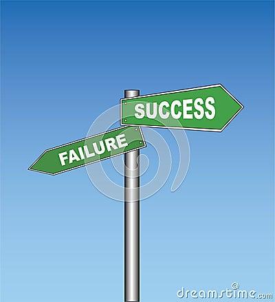 Road sign: Failure / Success