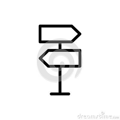 Free Road Sign Flat Icon Stock Photo - 130161950
