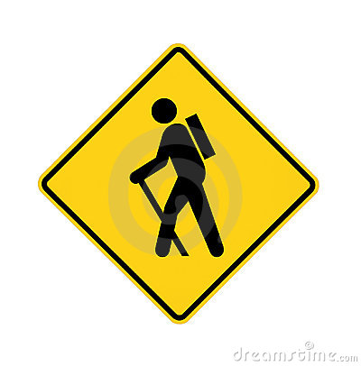 Free Road Sign - Hiker Royalty Free Stock Photo - 12579995
