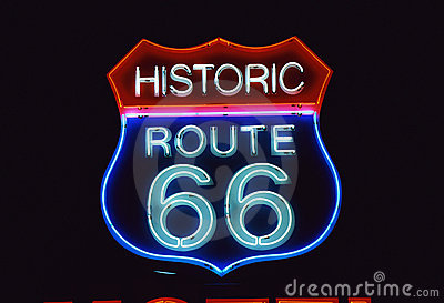 Road Sign for Historic Route 66