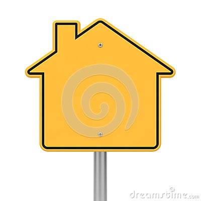 Free Road Sign In Shape Houses. Stock Photos - 28581783
