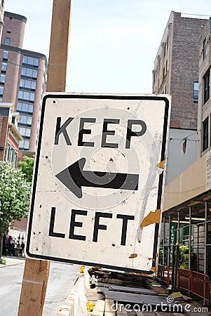 Road Sign Keep Left
