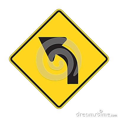 Road Sign - Left turn