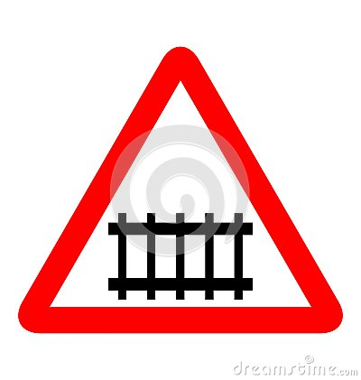 Road sign railroad
