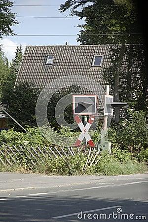 Road sign - railroad crossing 01