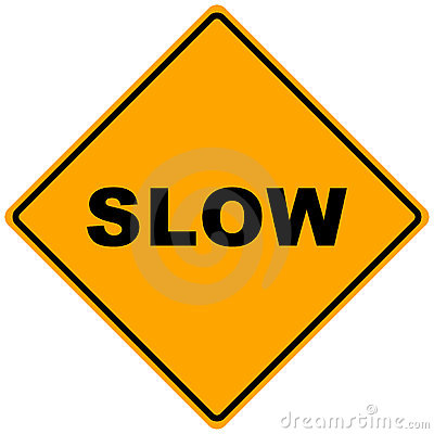 Road Sign Slow