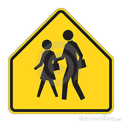 Free Road Sign Warning - School Royalty Free Stock Photos - 4973678