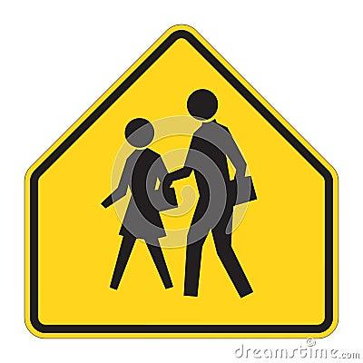 Road Sign Warning - School