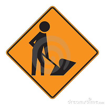 Road Sign Warning - Workers