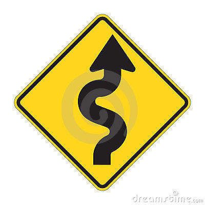 Free Road Sign - ZigZag Stock Photography - 4973692